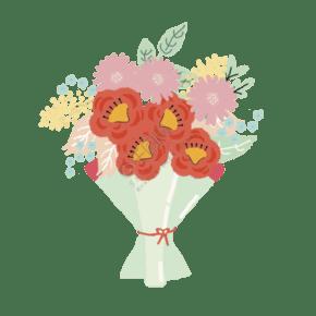春天小清新 花束 鮮艷花朵