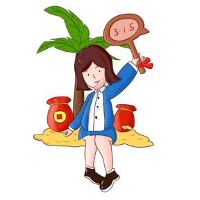 315消费者维权日手绘插画