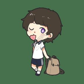 開學季放學甜品男孩