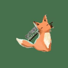 橙色的小松鼠免摳圖