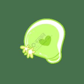 一只绿色爱心灯泡