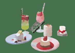 奶茶冰淇淋图片