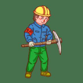 工人人物卡通男人生产