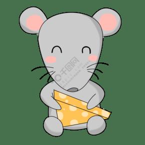 吃食物的小老鼠插畫