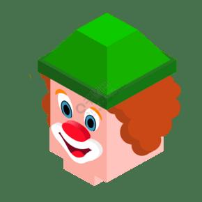 可爱的小丑头像免抠图