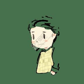 手繪客服可愛男孩頭像