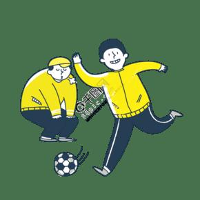 運動季足球少年笑臉png