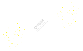手繪卡通黃色點點裝飾免扣元素