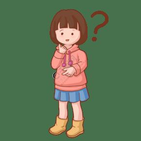 可爱卡通儿童问号png图片素材