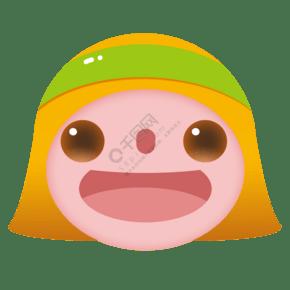 粉黄色圆形图案插图