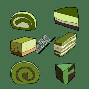 日系抹茶風味蛋糕