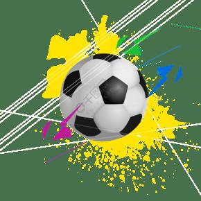 几何足球绚丽炫酷时尚世界杯足球