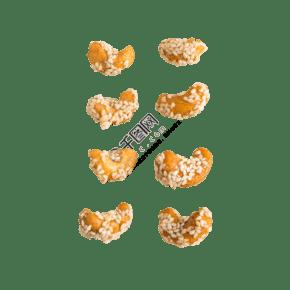 八粒排放整齊的腰果