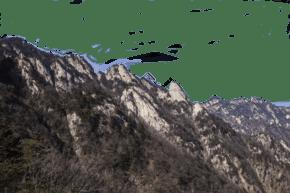 陡峭風景秀麗的山