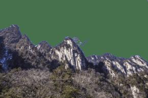 陡峭風景秀麗的山峰