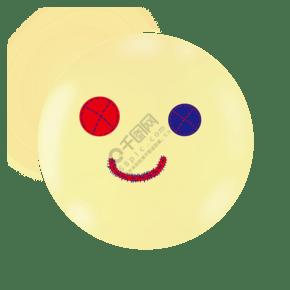 浅黄色卡通表情笑脸