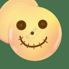 圆形简约风笑脸插画