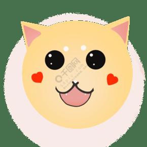 可爱的狗狗笑脸插画