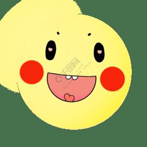 黄色的圆形笑脸插画