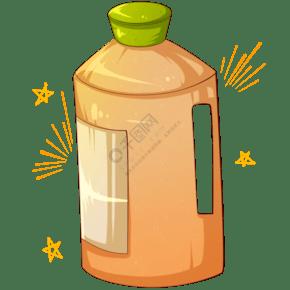 黃色水壺水桶插畫