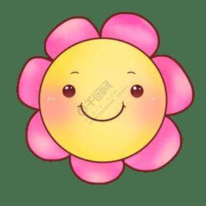 粉色花瓣笑脸插图