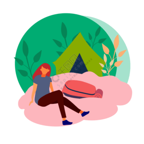 旅行运动商务家务风景人物扁平插画矢量免扣png格式