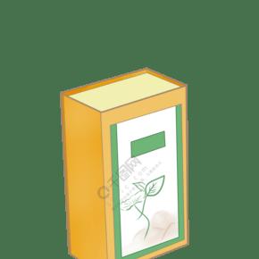 卡通黄色立体茶盒插图