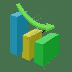 绿色的PPT分析图表插画