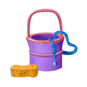 水洗垃圾衛生插畫
