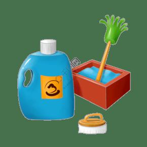 洗衣液的衛生插畫
