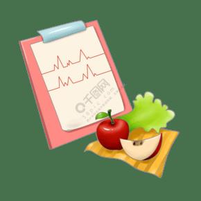 衛生食物卡通插畫