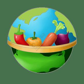 蔬菜衛生卡通插畫