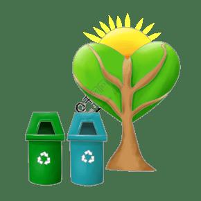 清理垃圾衛生插畫