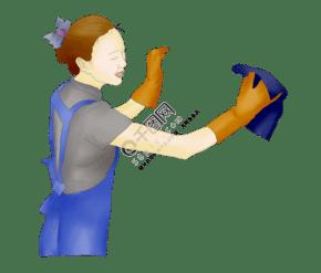 衛生日打掃衛生人物插畫
