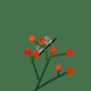 紅色的點點植物免扣圖