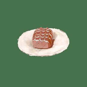 手繪寫實巧克力包心面包