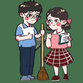 五一勞動節同學們打掃衛生評定優秀