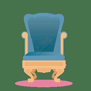 卡通家居椅子免抠图