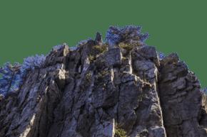 陡峭險峻風景秀麗的山峰
