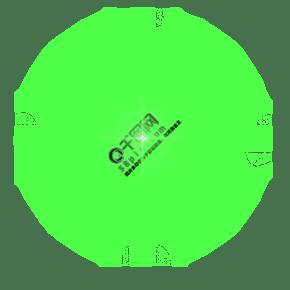 綠色十字光效PSD透明底