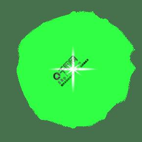 綠色光效PSD透明底