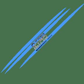 藍色發散光效PSD透明底