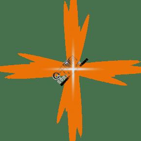 橙色光效PSD透明底