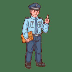 警察人物拿辦案檔案