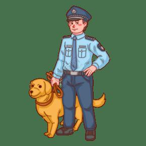 警察人物警察警犬