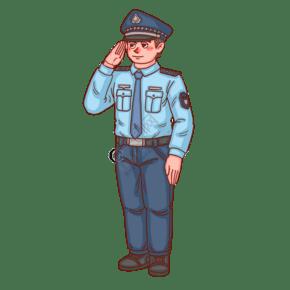 警察人物警察敬禮