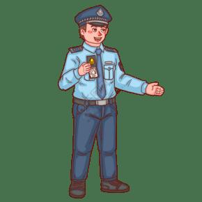 警察人物拿警察證件