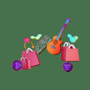 吉他 禮品袋 耳機裝飾元素