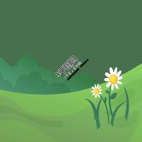 春天花草风景卡通