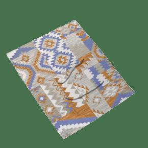时尚的花纹布垫子免抠图